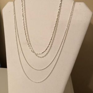 Set of 4 Sterling necklaces